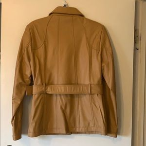 Camel colored 100% Lamb Leather Jacket